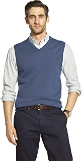 Men's Premium Essentials Solid V-Neck 12 Gauge Sweater Vest