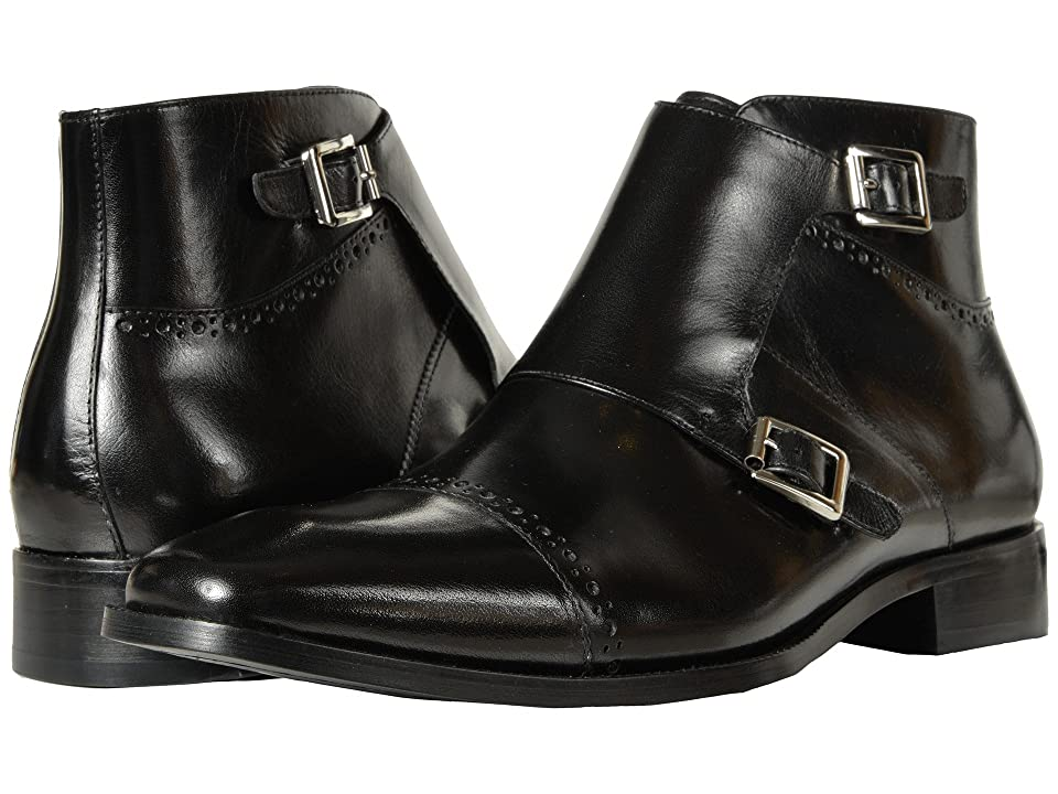 Stacy Adams Kason Cap Toe Double Monkstrap Boot (Black) Men