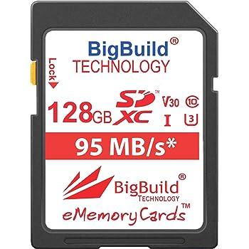 Tarjeta SD de 128GB U3 V30 Memoria Para CANON EOS 100D 1100D 1200D Cámara 1300D 4K