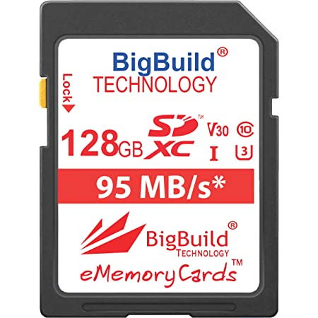 128GB Memory card for Canon EOS 2000D 95MB//s Class 10 SDXC 4000D Camera