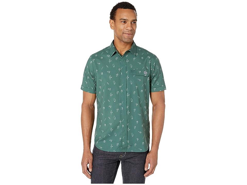 Helly Hansen Oya Short Sleeve Shirt (Jungle Green Print) Men