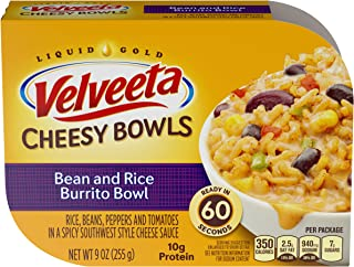Velveeta Cheesy Bowls Bean & Rice Burrito Bowl, 9 oz Box (Pack of 6)