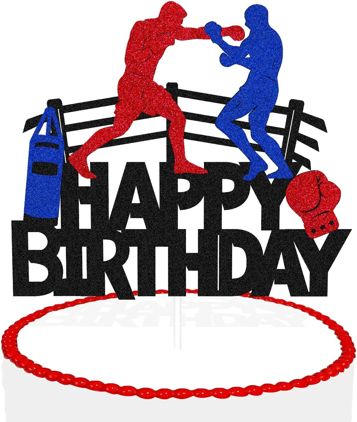 Boxing Cake Topper Bout Outstanding Platform Infighter Pugilist Beat OFFicial site