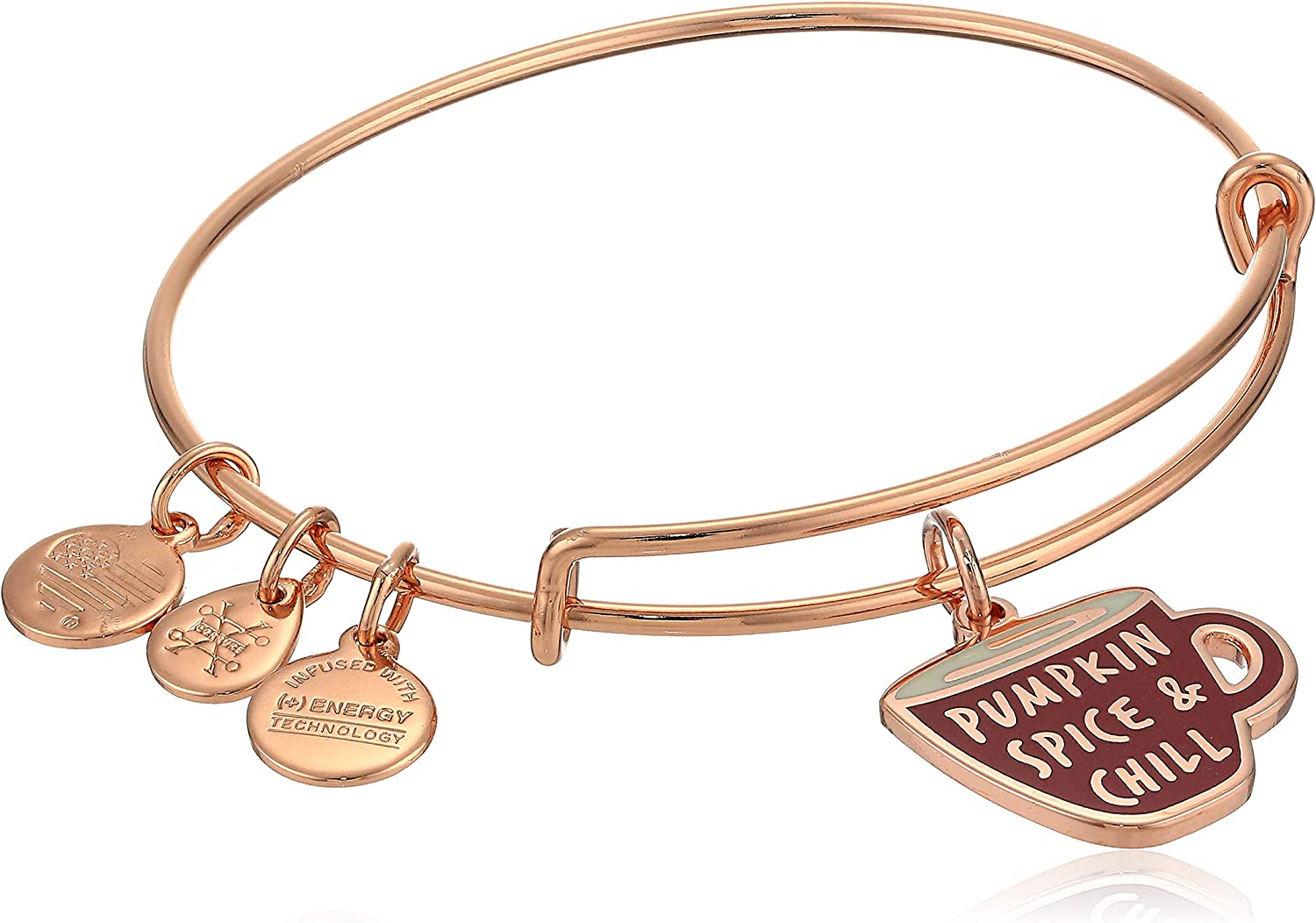 Alex and Ani Color Infusion, Pumpkin Spice and Chill Charm Bangle
