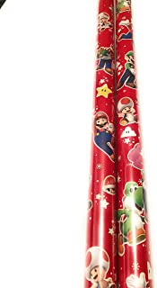 Super Mario Bros Wrapping Paper - 20 sq ft Roll