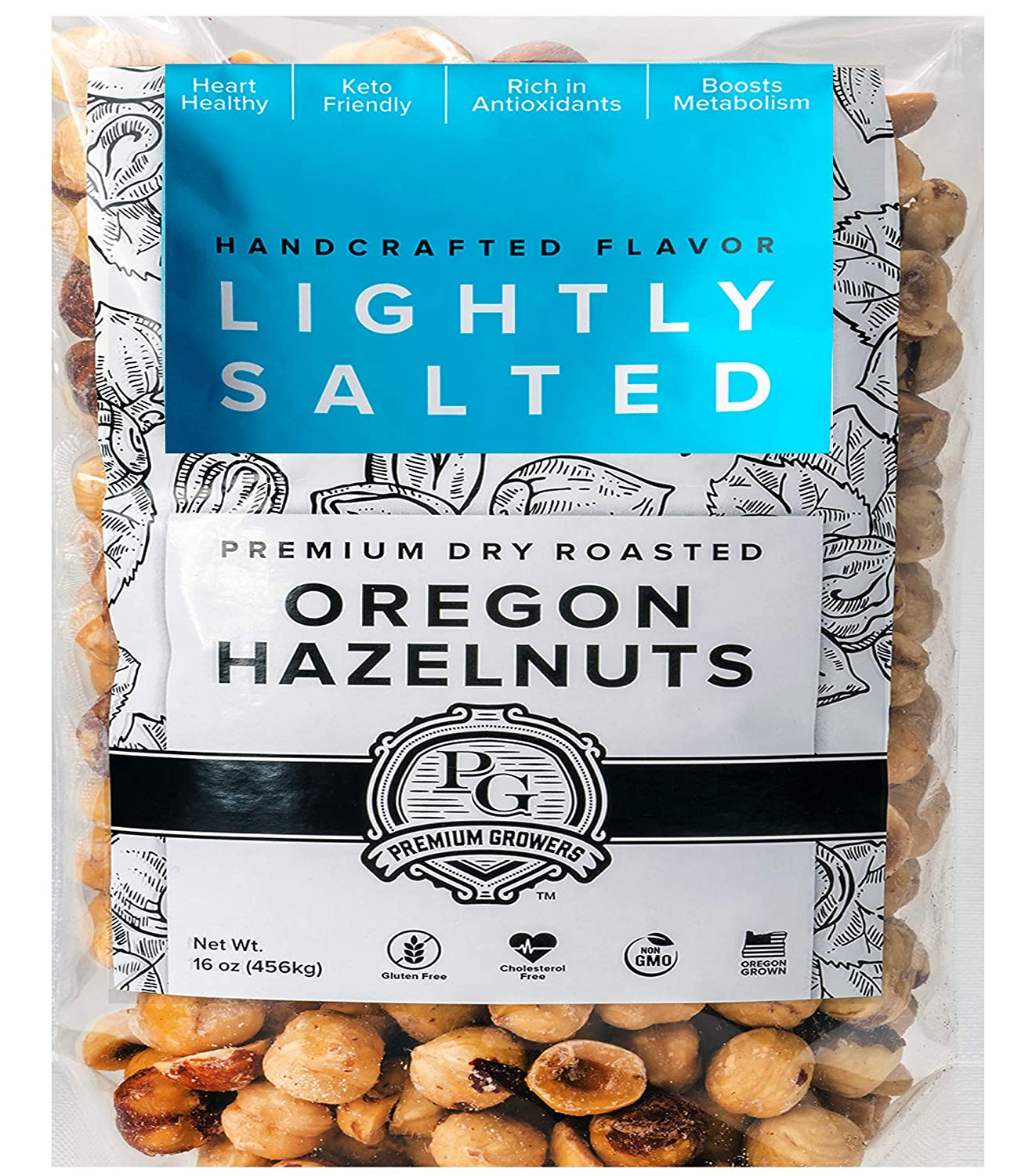 Oregon Farm To Table - Hazelnuts from Premium Growers - Dry Roasted - Lightly Salted – 1 LB