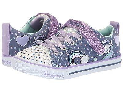 SKECHERS KIDS Twinkle Toes Sparkle Lite 10988L Lights (Little Kid/Big Kid) (Denim/Lavendar) Girl