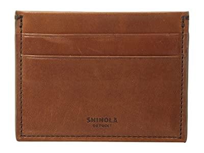 Shinola Detroit Five-Pocket Card Case Harness (Bourbon) Wallet