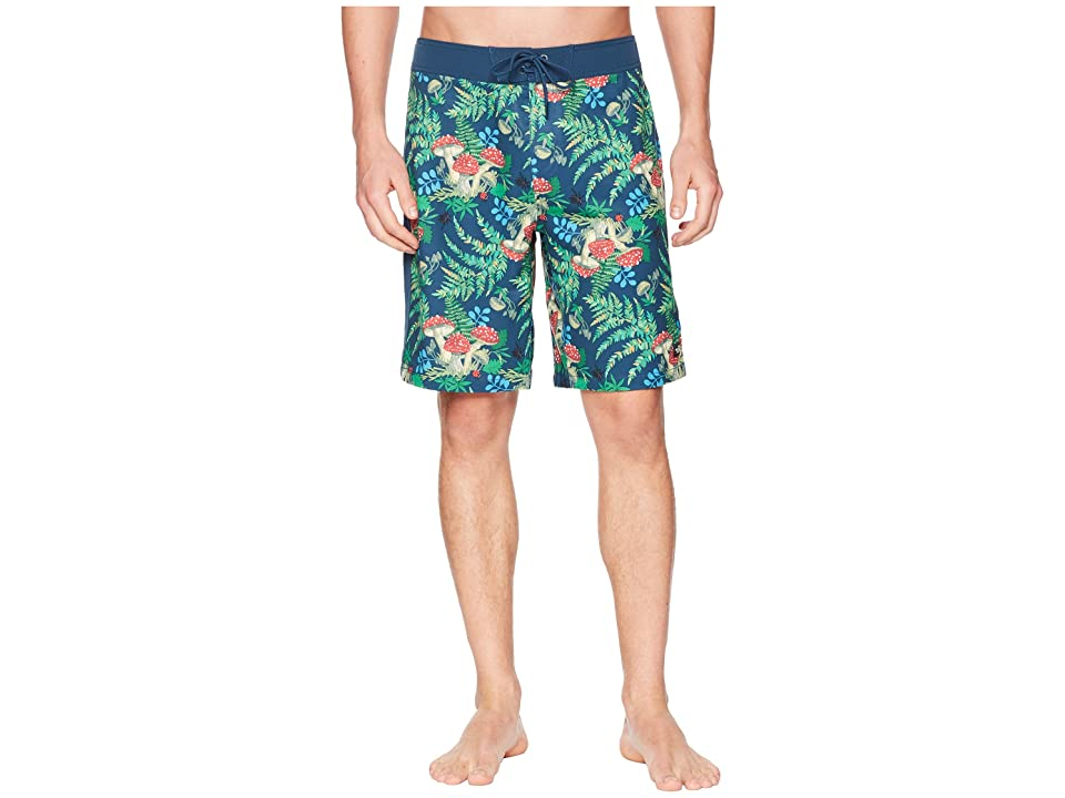 The North Face Whitecap Boardshorts 10 (Blue Wing Teal/Forest Floor Print) Men