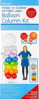 Amscan 117868 Air-Filled Latex Balloon Column Kit Party Supplies, One Size, Multicolor