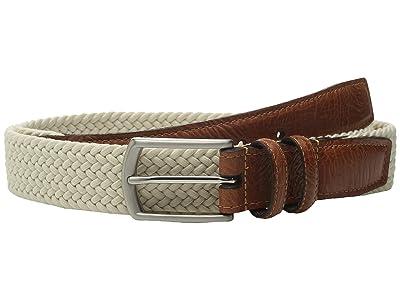 Torino Leather Co. 32MM Italian Woven Multi Cotton Elastic (Beige) Men