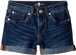 7 For All Mankind Kids Denim Shorts in Eden Port (Big Kids)