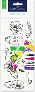 Faber-Castell Mixed Media Transfers - 20 Hand Illustrated Rub-On Transfer Designs (Flowers)