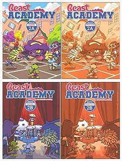 Art of Problem Solving: Beast Academy 2A + 2B Books Set (4 Books) - 2A Math Guide, 2A Math Practice, 2B Math Guide, 2B Mat...