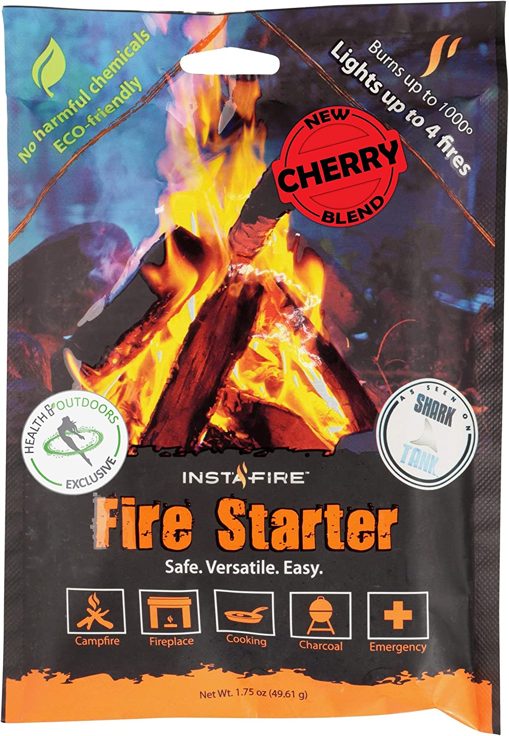 Instafire New Blends Granulated Fire Gorgeous Starter All Max 72% OFF Eco-F Natural