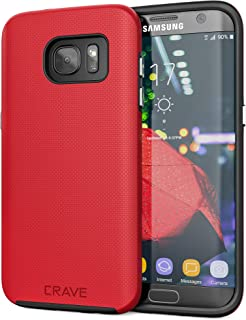 Crave S7 Edge Case, Dual Guard Protection Series Case for Samsung Galaxy S7 Edge - Red