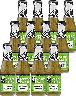 Taco Bell Verde Salsa Sauce 7.5oz Bottles (Pack of 12)