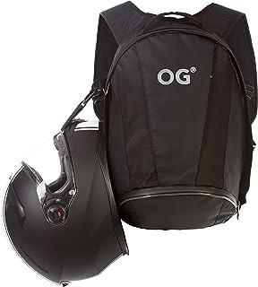 OG Online&Go EZ-Rider2 Mochila Moto Negra 24L, Bolsa Porta-Casco Motorista, Correa Casco, Impermeable, Portátil, Reflectante
