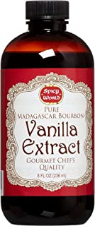 Spicy World Madagascar Bourbon Pure Vanilla Extract 8 Ounce - One Month Cold Extraction Process! No Heat or Pressure Used!