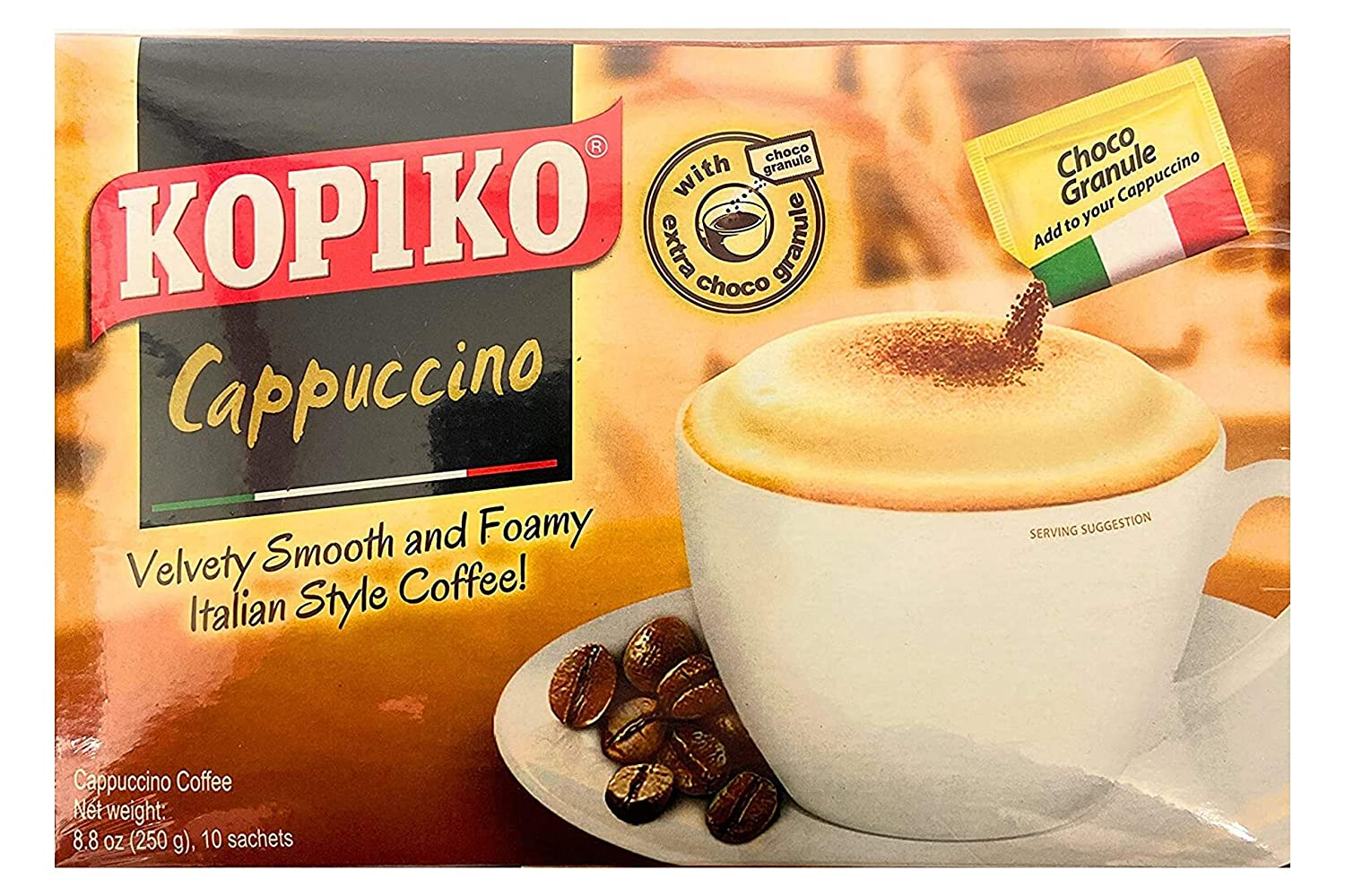 New arrival Kopiko Cappucinno wholesale Instant Coffee with Choco Ganule