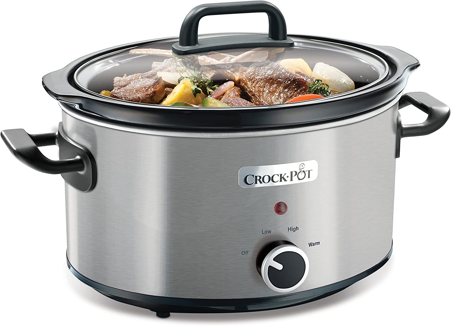 Crock Pot 3.5L Brushed Stainless Steel Slow Cooker 220 240 volt 50HZ (Will not work in USA)