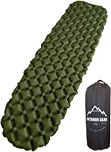 Outdoor Gear USA Camping Sleeping Pad Inflatable, Ultra-Lightweight (14.5 Ounces) Air Mattress for Backpacking, Hiking, Tr...