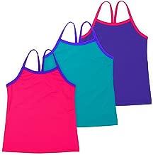 Lucky & Me   Ella Girls Dance Tank Top   for Gymnastics & Dancewear   3-Pack   Tagless for Comfort   Multicolor
