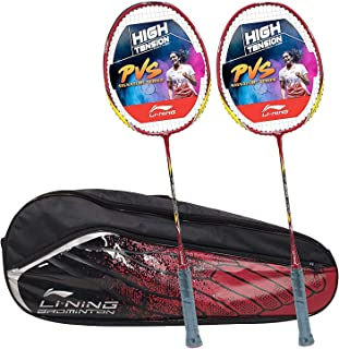 Li-Ning Value Combo of 2 Badminton Racquets and 1 Badminton Kitbag, Black