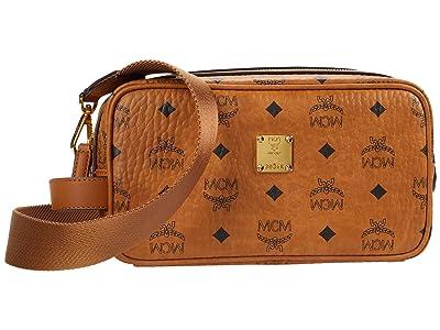 MCM Visetos Original Cosmetic Case (Cognac) Handbags