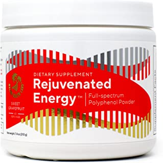 Rejuvenated Energy — full spectrum Polyphenol powder with Probiotics, Sinetrol, Green Tea, and Antioxidants 60 servings