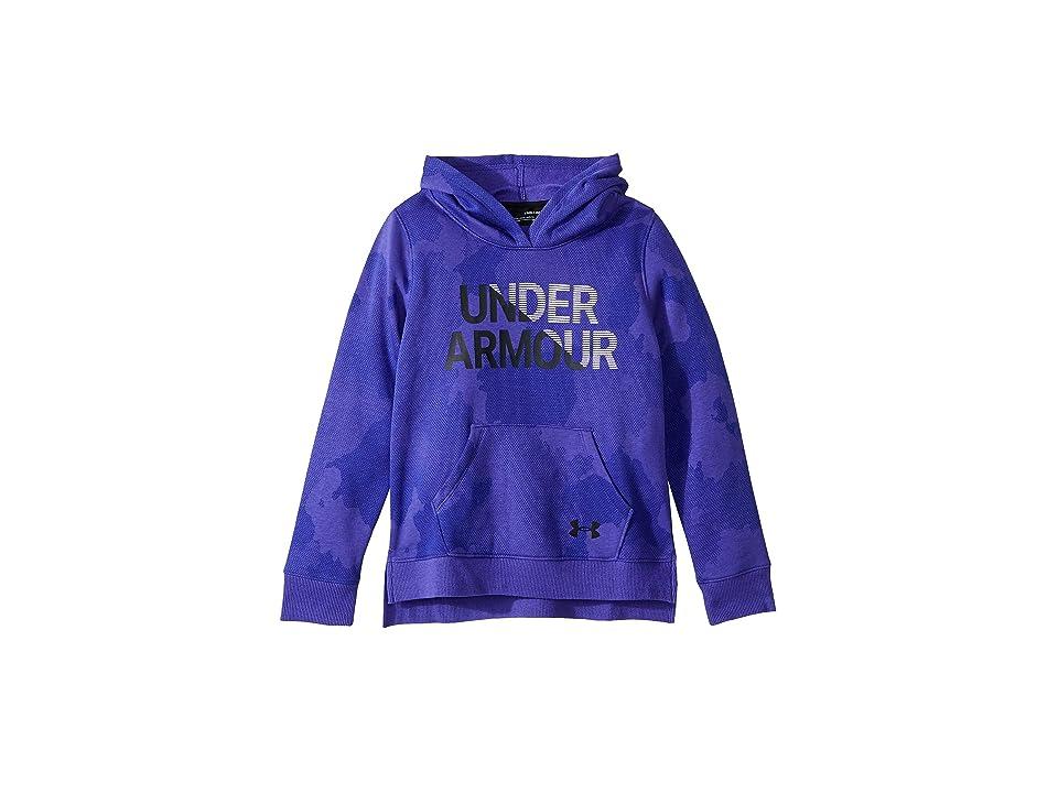girls purple under armour hoodie