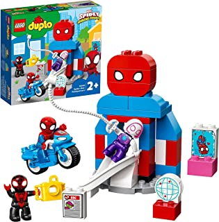 LEGO 10940 DUPLO Marvel Spider-Man Headquarters Building Toy for Toddlers Age 2 +, Set with Spidey and Friends Figures