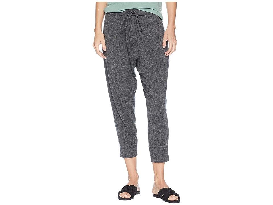 Eileen Fisher Lightweight Tencel Stretch Jersey Cropped Drawstring Slouchy Pants (Ash) Women