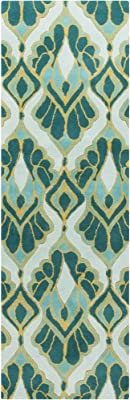 Surya Destinations DTN-73 Contemporary Area Rug, 2-Feet 6-Inch by 8-Feet, Teal