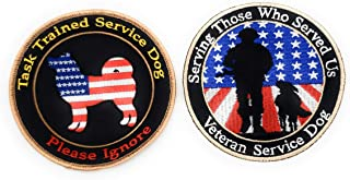 Furbaby Products Veteran Service Dog Large Patch 4 Inch Embroidered Custom Made Serving Those who Served us Do Not Pet for Large Dogs Puppy and Pets