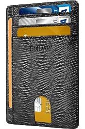 Slim Minimalist Front Pocket RFID Blocking Leather...