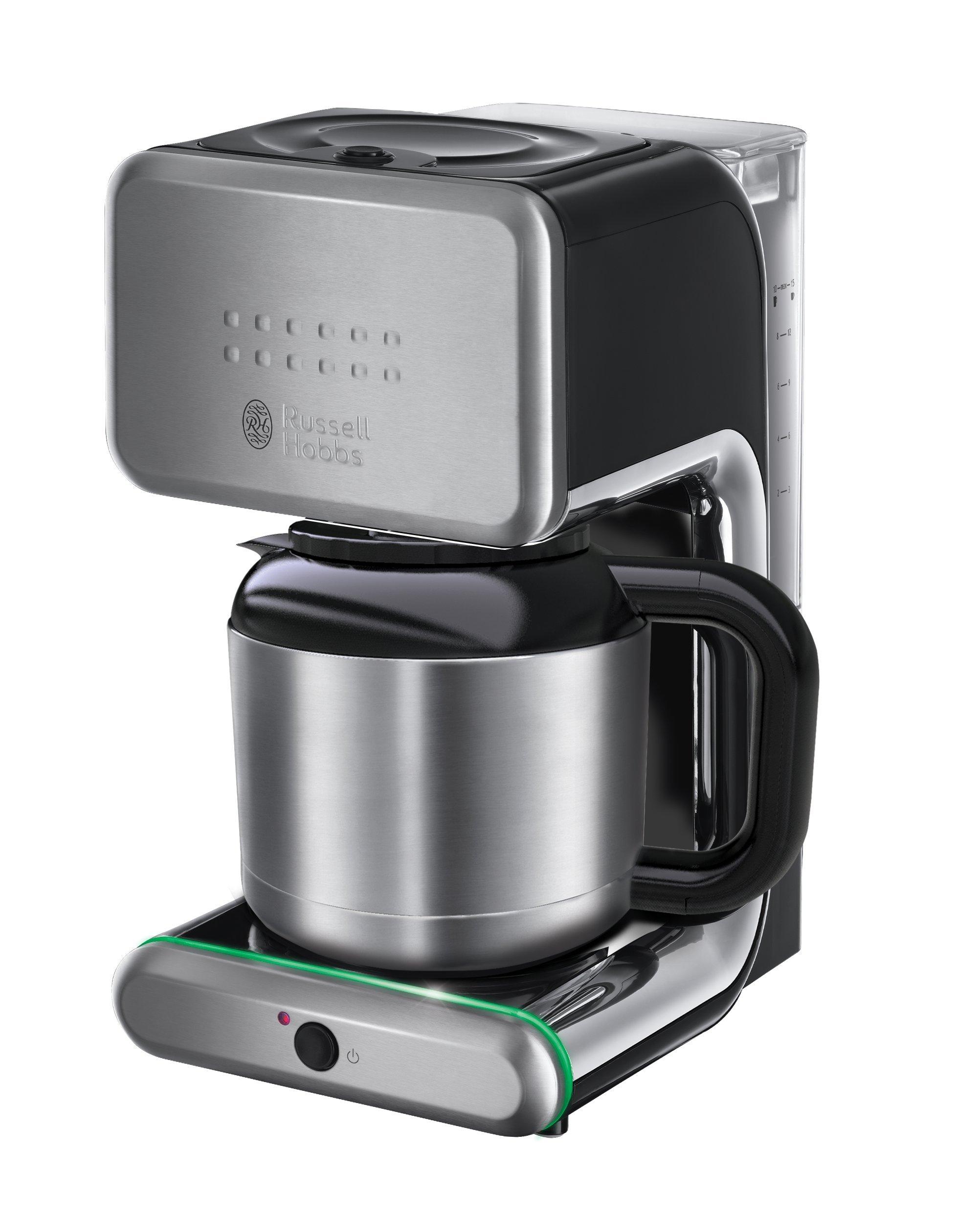 Russell Hobbs 20181-56 Illumina - Cafetera digital térmica, acero inoxidable brillante, anillo de luz de color cambiante, jarra térmica: Amazon.es: Hogar