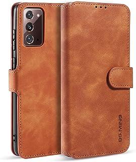 DG.MING Portemonnee Hoesje voor Samsung Galaxy Note 20 Ultra, Premium Leren Portemonnee Telefoonhoesje Vintage Leer met Ki...