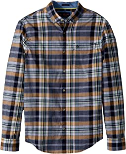 Original Penguin - Long Sleeve Nep & End on End Plaid Shirt