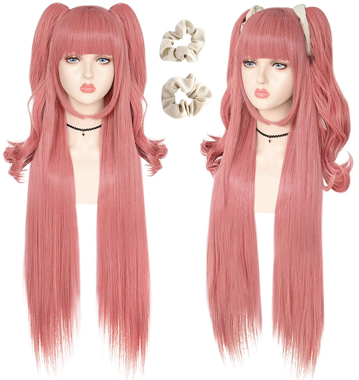 Max 61% OFF JoneTing Pink Wig + {2 Hair Cosplay Synthetic Lon Costume Bands} supreme