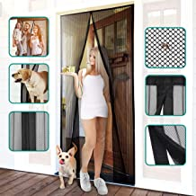 Homitt Magnetic Screen Door with Heavy Duty Mesh Curtain and Full Frame Hook&Loop Fits Door Size up to 37