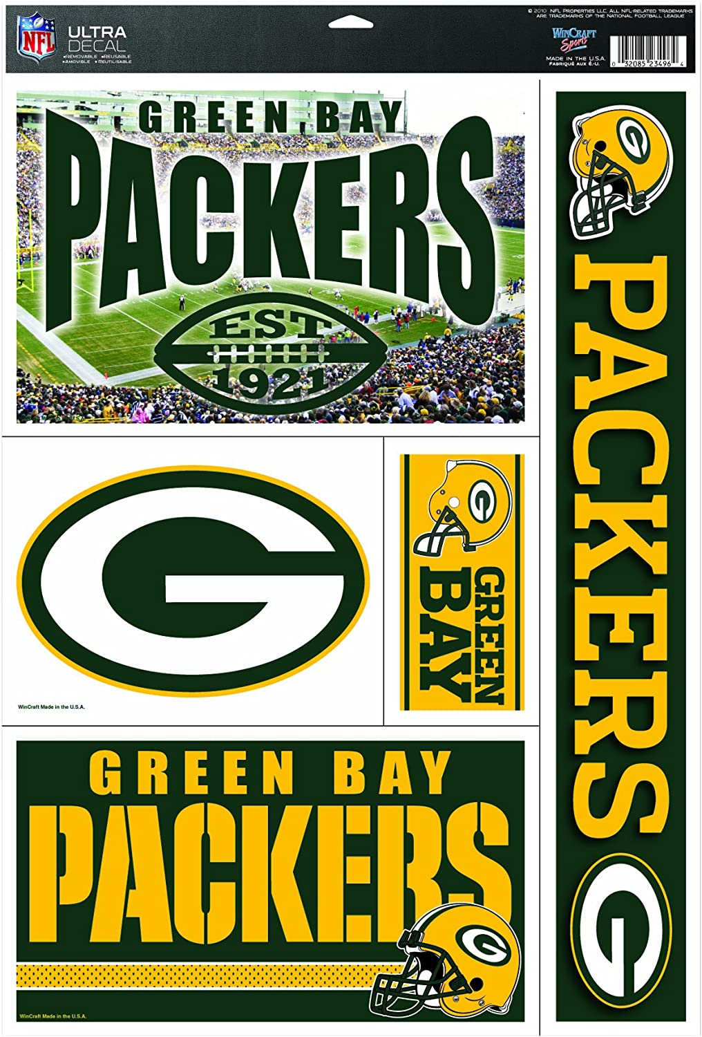 NFL Green Bay Packers 11by17 Ultra Decal Multiple Designs