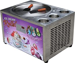 Countertop design Kolice Free shipment 45cm (18 inches) single round ice pan with 3 tanks fried ice cream machine instant fry ice cream machine roll ice cream machine with refrigerant, AUTO DEFROST and PCB of smart AI temp. controller