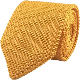 gold knitted tie
