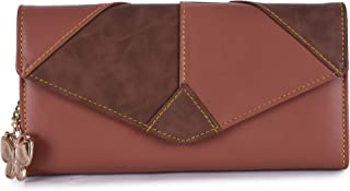 Butterflies Tan & Brown PU Women's Wallet (BNS 2442TN)
