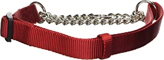 "Hamilton Adjustable Combo Choke Dog Collar, Red, Medium, 3/4"" x 18-26"""