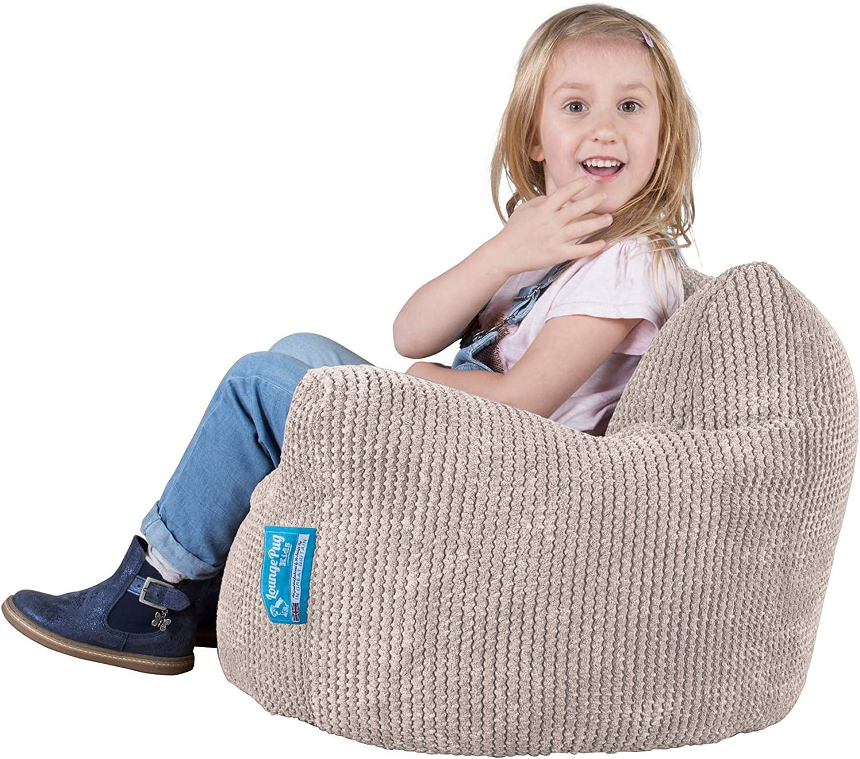 Lounge Pug/® PINK Kids Bean Bags UK Pom Pom CHILDRENS Armchair