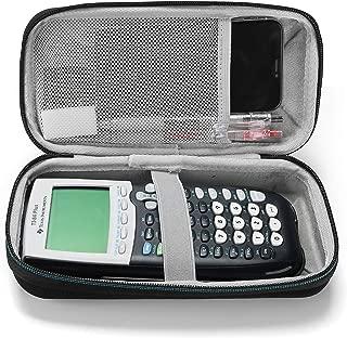 Polaland Hard EVA Case for Texas Instruments Ti-84 Plus, Durable Travel Storage Carrying Box Protective Bag Mesh Pocket for Ti-84 Ti-83 Ti-85 Ti-89 Ti-82 Plus/C CE Graphing Calculator -Black