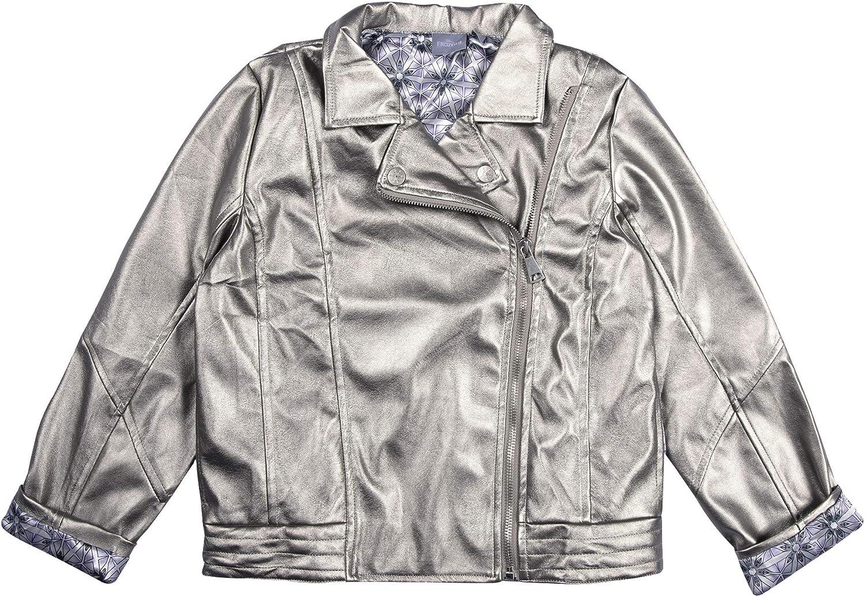 Disney Frozen OFFicial mail order 2 Girl's Motorcycle Selling Metallic Jacket
