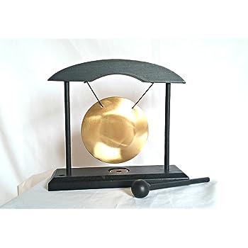 en Verre 12/cm Diam/ètre Multicolore Trouver Quelque Chose diff/érents Table Gong d/écoratif en Cadre en Bois